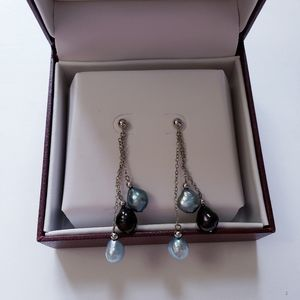 Helzberg Diamonds Drop Pearl Earrings